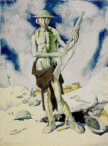 Blown Up Mad, 1917, William Orpen