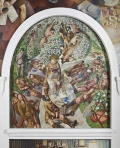 Map-Reading-Stanley-Spencer-at-Sandham-Memorial-Chapel-NT-John-Hammond-©-The-Estate-of-Stanley-Spencer-The-Bridgeman-Art-Library-smaller