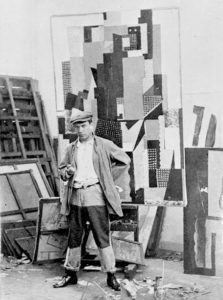 Pablo Picasso in his studio in the Rue Schoelcher 0