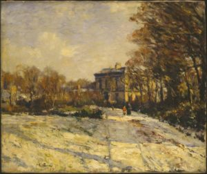 Snowy Morning, Queen Margaret's College, Glasgow 1900-1 Sir Muirhead Bone 1876-1953 Presented by the Contemporary Art Society 1917 http://www.tate.org.uk/art/work/N03166