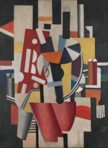 Fernand Léger Composition (The Typographer) 1918-19 Oil on canvas 98 1/4 x 72 . in. / 249.6 x 183.5 cm Promised Gift from the Leonard A. Lauder Cubist Collection © 2014 Artists Rights Society (ARS), New York / ADAGP, Paris
