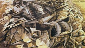 the-charge-of-the-lancers-umberto-boccioni